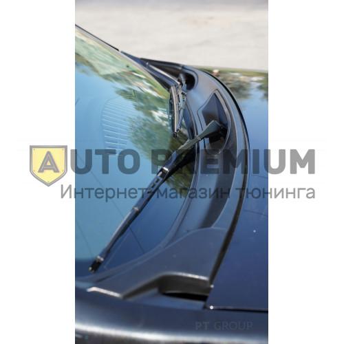 Накладка в проём стеклоочистителей (Жабо, ABS) Nissan Terrano с 2014